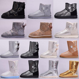 ugg women men kids uggs slippers furry boots slides  Winter Australien Klassische Schneeschuhe gute Mode WGG hohe Stiefel aus echtem Leder Bailey Bowknot Frauen der Vorburg im Angebot