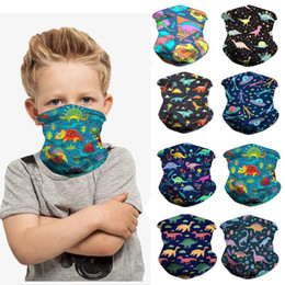 face scarves NZ - Elastic Kids Head Face Neck Gaiter Tube Bandana Scarf Half Face Scarves Outdoor Camping Hiking Cycling Accessories