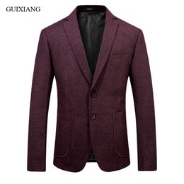 Wholesale high end men s suit resale online - 2020 new arrival style men high end boutique woolen balzers high quality business casual men s slim solid suit coat size S XL