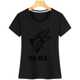 Tea Rex Frauen-T-Shirt Famous New Styleprint Cotton