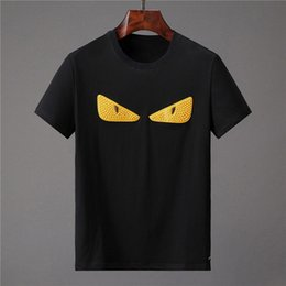 Wholesale anime t shirts for sale – custom New Summer Men T Shirts Short Sleeves Funny Anime Letter Printing Mens Tee Shirts Fashion Men Casual T Shirt