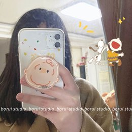 transparent cute cartoon case NZ - Cute Cartoon Apple 11pro Phone Case IPhoneX Quicksand Support Xsmax Soft XR Transparent 8P 7P