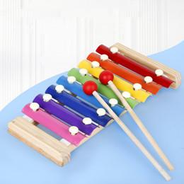 Main en bois Knocking Toy Piano Instruments de musique pour enfants Toy bébé Xylophone Jouets éducatifs en bois Enfants bébé Coffrets cadeaux CCA12424 en Solde