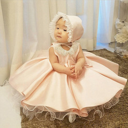 1st birthday clothes girl UK - 2020 2020 Newborn Chlid Clothes Ball Gown 1st Birthday Dress For Baby Girl Ceremony Princess Dress Elegant Party And Wedding Dresses qcDF#
