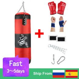 Sac de Sable de Boxe Vide Suspendu Bickbag Boxing Former Fight Karate Poin/çonnage Sac Robuste for Adulte avec Garde-Bracelet de Gant