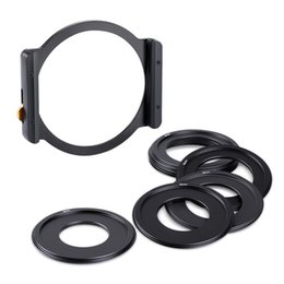 camera lens 77mm filter UK - K&F CONCEPT Metal Square Filter Holder with 49mm 52mm 58mm 62mm 67mm 72mm 77mm 82mm Filter Adater Rings for DSLR ILDC Camera Lens