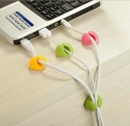 Discount cable holder desk Attractive Cable Clip Desk Tidy Wire Drop Lead Usb Charger Cord Holder Organizer Holder Line Accessories G034