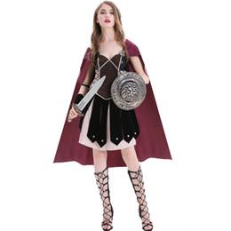 Wholesale warrior women costumes for sale – halloween U83wg goddess M XL cosplay clothing medieval ancient Rome Sparta female warrior panderon M XL pvzSy performance Greek panderon costume clothi