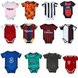 Wholesale real madrid clothes online – design Baby Rompers Jumpsuit Football Clothes Soccer Jersey Real Madrid New SERGIIO ISCO RAMOS KROOS BENZEMA MARCELO