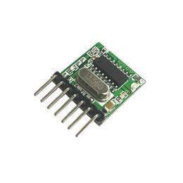 Wholesale dhl or fedex 200pcs 433 Mhz Superheterodyne RF wireless transmitter module 1527 Encoding EV1527 Code wide-voltage 3V-24V