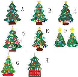 À faire soi-même enfant feutre Arbre de Noël mur pendaison ornements Handmade kids toys Craft