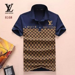Wholesale polo shirt cotton fit for sale – custom Summer Men T5 Top quality Embroidery Polo Shirts Short Sleeve Cool Cotton Slim Fit Casual Business Men Shirts S9S