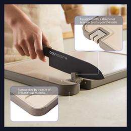 venda por atacado Placa de corte reversível para cozinha, grande placa de desbastamento de plástico durável espesso, utility antiderrapante Bordamento de servir blocos de corte
