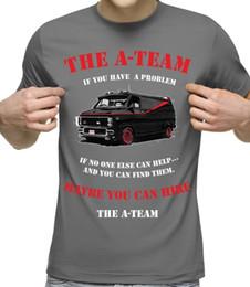 Wholesale van top online – design The A Team T Shirt Van Mens Funny S Tv Vigilante Show Mr T Army Fight Grey Summer Fashion Tops Print Casual Tees