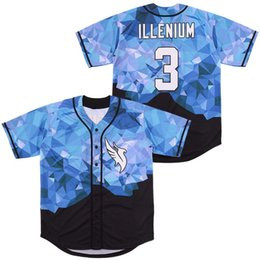 Throwback Jersey Baseball Maillots Illenium Jersey Chanteur 3 Cousu Version Fashion Diamond Edition Livraison gratuite Y200824