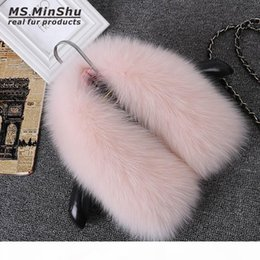 Wholesale real fox jackets for sale - Group buy Real Fox Fur Collar Women Natural Fox Fur Scarf Winter Neck Warmer Jacket Fur Collar Short Scarves for Men and Women