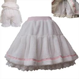 Wholesale winter costumes for women online – ideas Adult Women Winter Warm Fleece Mini Pleated Pant Skirt Band Waist White Sweet Cute Lolita Skirt Costume For Lady amp Preppy Girls