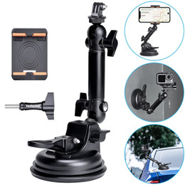 action suction cup mount NZ - Action Camera Smartphone Suction Cup Race Car Cockpit Mount Motion Vehicle Windshied Hood Rooftop Holder for GoPro Sony Phone T200620