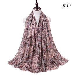 Wholesale middle eastern scarves for sale - Group buy Middle Eastern Style Heavy bubble chiffon hijab scarf Printed shawls muslim scarves headscarf wraps headband long scarves