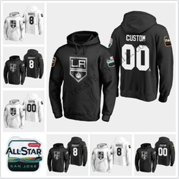 ingrosso re gioco-Anze Kopitar Los Angeles Kings All Star Game Hoodie Drew Doughty Dustin Brown Jeff Carter Jonathan Quick Martinez Kyle Clifford Jersey