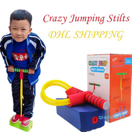 educational games for kids wholesale NZ - Wholesale- Children Rubber Crazy Jumping Stilts Safety For Kids Toy Jumping Outdoor Sports Frog Jump Games Educational Toys
