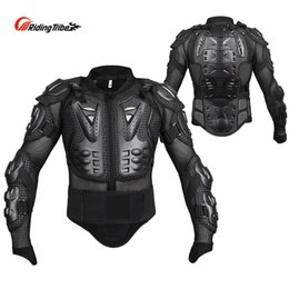 jacket protectors 2020 - Riding Tribe Motorcycle Rider Body Armor Motocross Off-Road Safety Protection Jacket Chest and Spine Protector Gear Set
