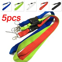 cell phone lanyard neck strap Canada - 5 pcs Office Neck Lanyards Detachable Buckle Hook Strap Quick Release safety lanyard for women men ID Badge Car Keys Cell Phones