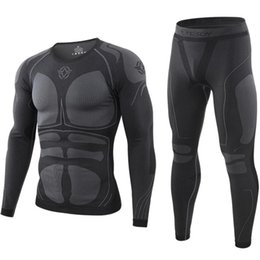 Wholesale johns underwear for sale - Group buy Seamless Tight Tactical Thermal Underwear Men Outdoor Sports T shirts Breathable Training Cycling Thermo Underwear Long Johns