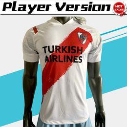 Wholesale football shirt river online – design player version River Plate soccer jerseys home white Men Argentina league soccer shirt Customized Football uniform
