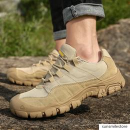Outdoor Men Hiking Waterproof Breathable Tactical Combat Army Boots Desert Training Sneakers Anti-Slip Trekking Shoes