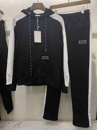 Wholesale m photos resale online - 2020 New classic fashion real photos top quality men high cotton long sleeve casual tracksuit sportsuit m Xl