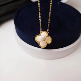 white flower necklace silver Australia - Luxurious quality S925 silver flower pendant necklace with nature white shell for women necklace wedding gift jewelry PS7016