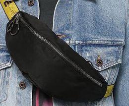Wholesale Men Satchel Shoulder of Bag Yellow Ribbon Men Chest Bag Anti-Theft Sling Pack USB Charge Port Satchel Canvas Shoulder Bag