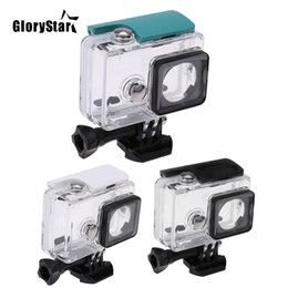 action camera for diving Australia - GloryStar 45M Underwater Diving Waterproof Case for Xiaomi Yi Sports Waterproof Box for Xiaomi yi Action camera Protective