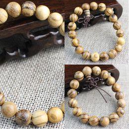 Wholesale vietnam white online – design Vietnam Eaglewood beads bracelet white sand solid wood Buddha beads bracelet men and women couple jewelry gift natural texture WmFKP
