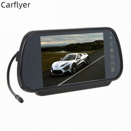 camera reviews NZ - Carflyer Universal 7 inch TFT LCD Screen Car Reverse Backup Review Monitor+ Night Vision Rearview camera optional OGBV#