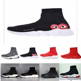 Wholesale unisex socks for men women online – funny 2019 Top Quality Speed Trainer Socks shoes for men women Triple black white red Casual shoes Fashion Sneakers ankle sh2 DJB4