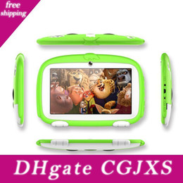 android touch pad tablet pc Australia - 7inch Kids Tablet Pc Quad Core 8gb Dual Cameras Wifi Google Player Children Pad Q718 Touch Screen Andorid Gift Cartoon Dog Dhl