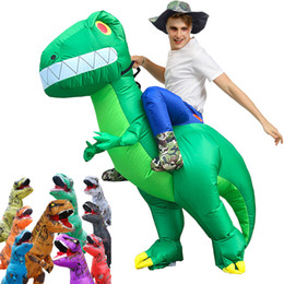 kids halloween mascot costume 2021 - Hot Sale Adult Kids Dinosaur Inflatable Costumes Fancy Halloween Party Costume Funny Cartoon Carnival Mascot Costumes HI867