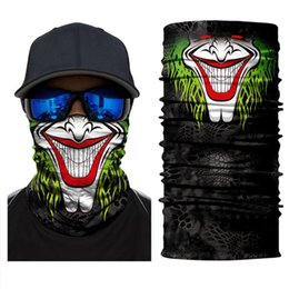 Discount ski mask skeleton US STOCK Halloween Skeleton Face Mask Joker Headband Skull Masquerade Masks for Ski Motorcycle Cycling Fishing Outdoor Sports FY6098