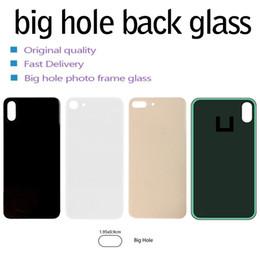 Per iPhone 8 8 più X XS MAX vetro batteria di ricambio di vetro posteriore alloggiamento della copertura posteriore grande foro della fotocamera No smontaggio con adesivi in Offerta