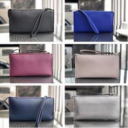 k wallet UK - Women K&S PU Leather Wallets Wristlet Handbags Zipper Clutch Bag Coin Purses Trendy Party Evening Bag Card Holders Pouch Money Bag C61 7B8r#