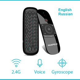 pc air mouse NZ - W1 2.4g Air Mouse Wireless Keyboard Fly Mouse W1 Multifunctional Remote Control For Android Tv Box pc smart Tv projector Pk G20s T190628
