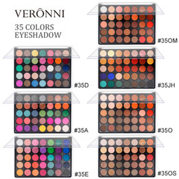 veronni eyeshadow NZ - VERONNI 35 Color High Gloss Pearlescent Eyeshadow Palette Matte Eyeshadow Beauty Makeup Tool Cosmetics TSLM1