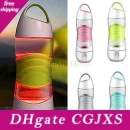 night glowing plastic UK - Led Light Smart Water Bottle Tracks Water Intake Glows To Remind You To Stay Night Lights Sos Emergency Sport Mug Cup Kettle Wx9 -232