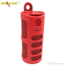 zealot bluetooth NZ - ZEALOT S8 HiFi 3D Stereo Wireless Bluetooth Speaker Column Touch Control Support TF Card AUX Handsfree With Microphone