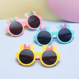 mouse fashion Australia - Fashion Children Cartoon Sunglasses Mouse Frame Sun Glasses Anti-UV Spectacles Baby Cut Bow Design Eyeglasses Adumbral A++