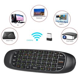 pc air mouse NZ - 2.4g Russian English Air Mouse Wireless Keyboard Remote Control 6-axis Motion Sensing For Smart Tv Android Tv Box Pc T190628
