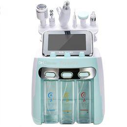 Großhandel 6/7 in 1 Ultraschall-Kavitation Hydra Facial Maschine Dermabrasion Wasser Aqua Sauerstoff Spritzpistole RF Hydro Microdermabrasion Peeling Vakuum-Skin