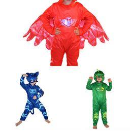 Wholesale cartoon hero costumes for sale – halloween EiATd Halloween Clothes hero clothing clothing cartoon masked Children s COSPLAY pajama costume and Peter Pan costume